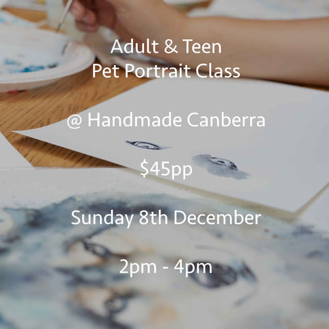 Pet portrait classes