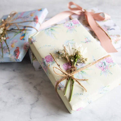 Australian made watercolour artwork wrapping paper