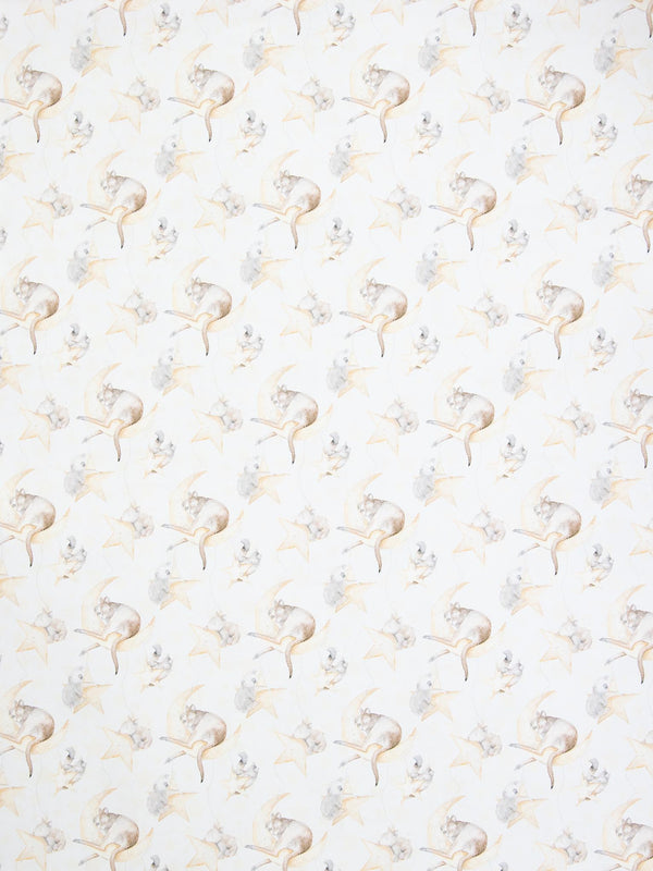 White background printed moon & stars Australian animals wrapping paper sheets