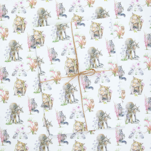 Australian Animals Wrapping Paper Sheets by Stephanie Elizabeth Artwork