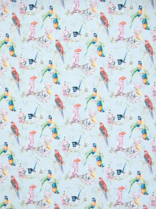 Australian Birds Blue wrapping paper sheet from Stephanie Elizabeth Artwork