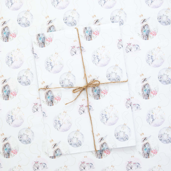 Australian Christmas wrapping paper sheets by Stephanie Elizabeth Artwork