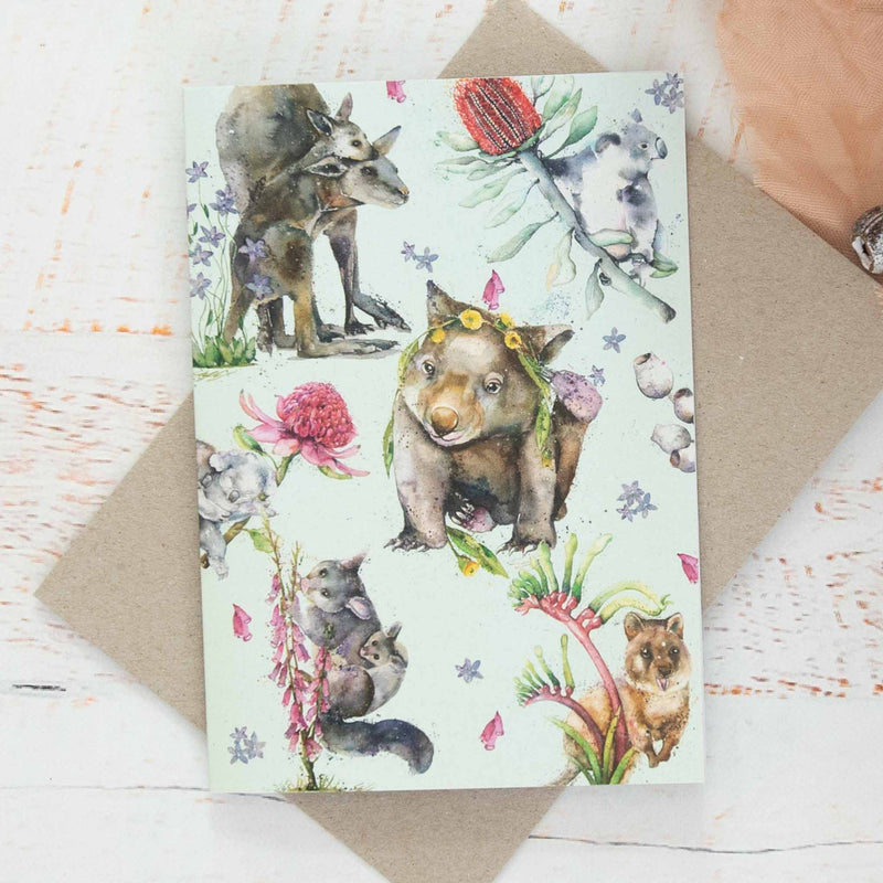 Greeting Card Australian Marsupials