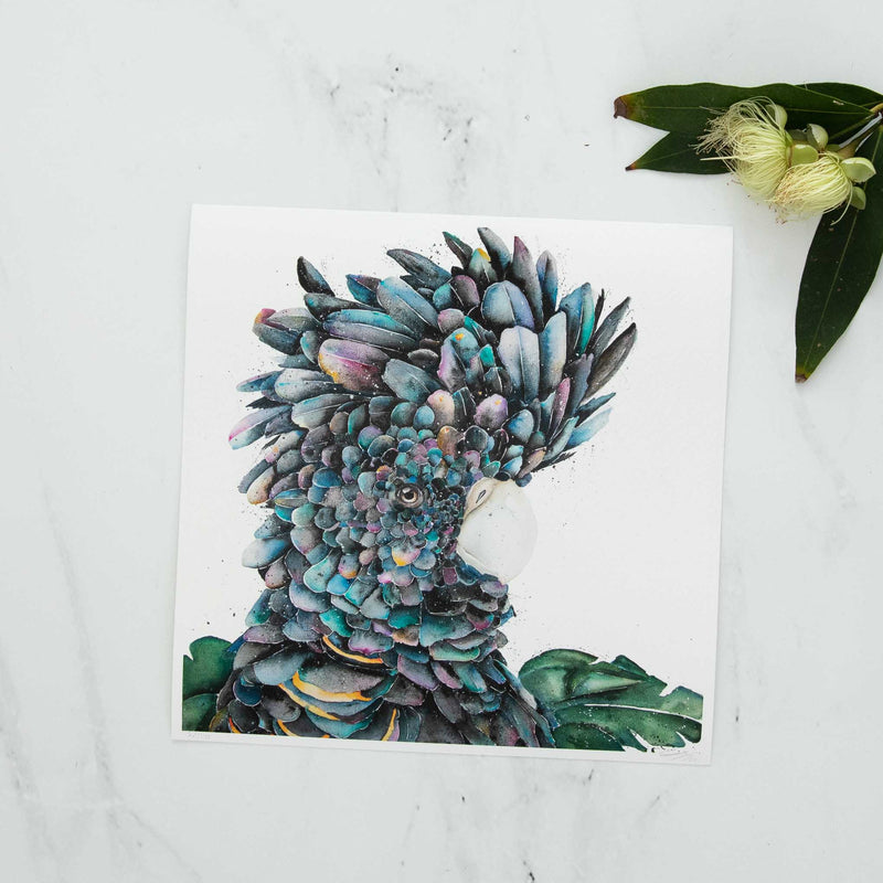 Fine Art Black Cockatoo Print