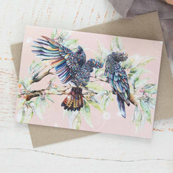 Black Cockatoos Greeting Card