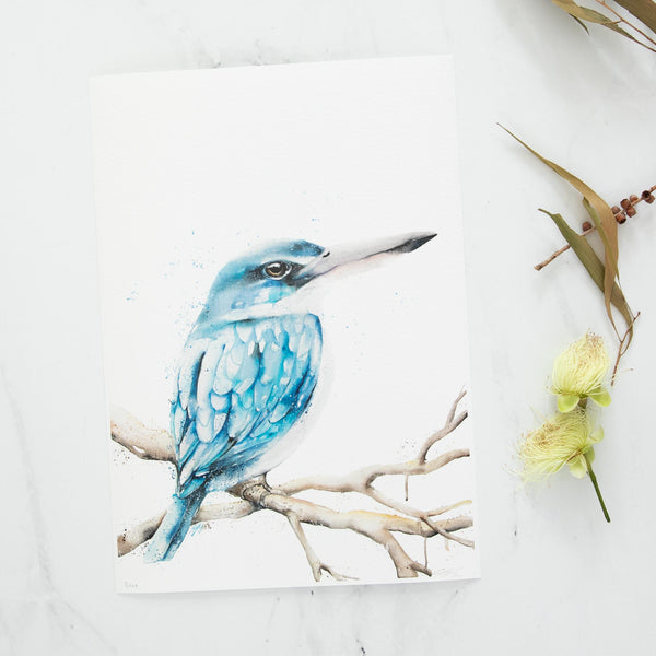 A4 Kingfisher fine art print