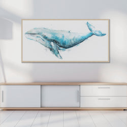 Giant Humpback Whale Canvas Artwork