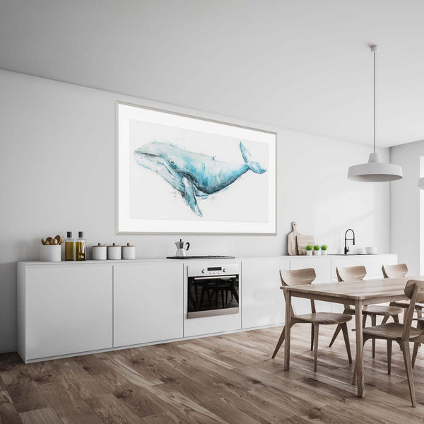 Humpback Whale Animal Artwork Home Decor Wall Art