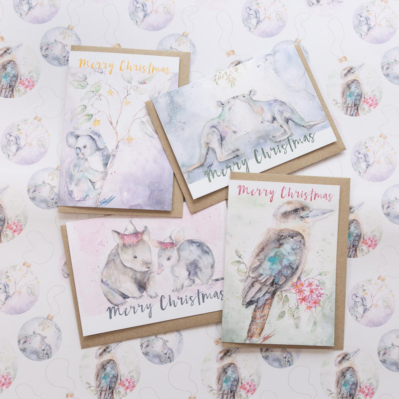 Christmas greeting cards and wrapping paper range