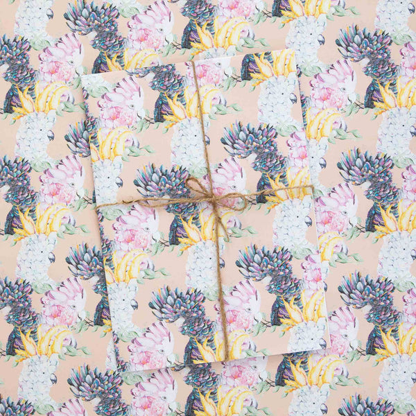 Cockatoos & Galahs Wrapping Paper