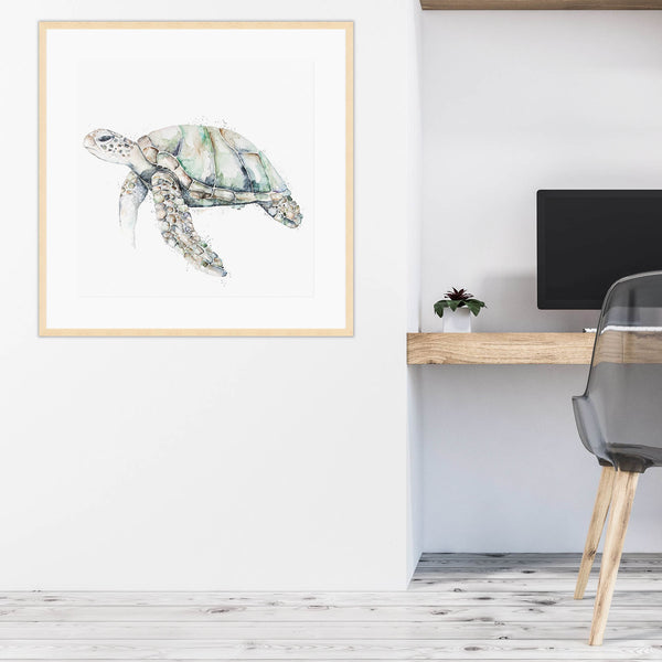 Turtle Artwork Hanging in Office