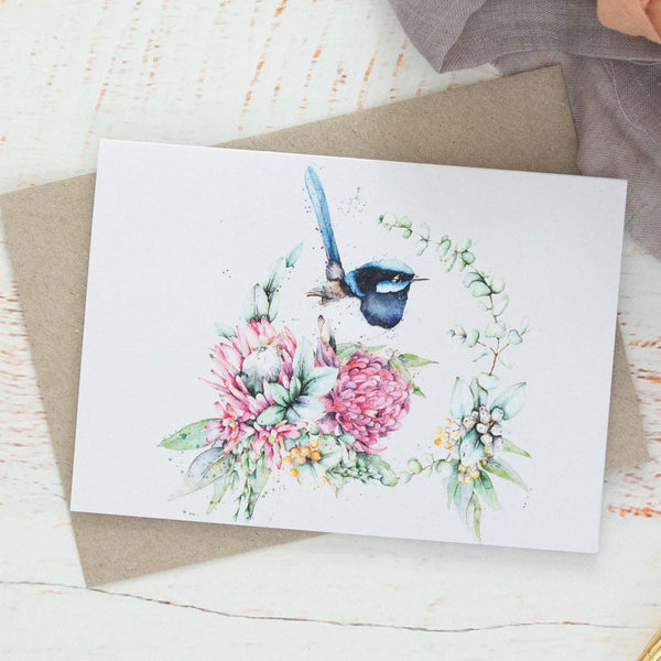 Fairy Wren greeting card