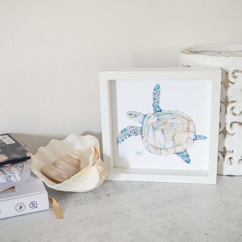Framed turtle print by SEA
