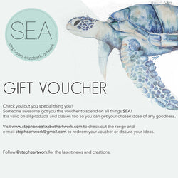 Gift Voucher - Stephanie Elizabeth Artwork