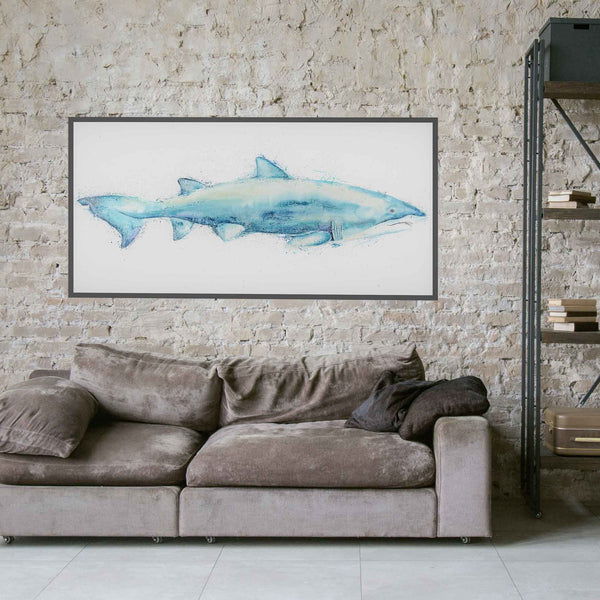 Giant Shark Original Canvas Artwork