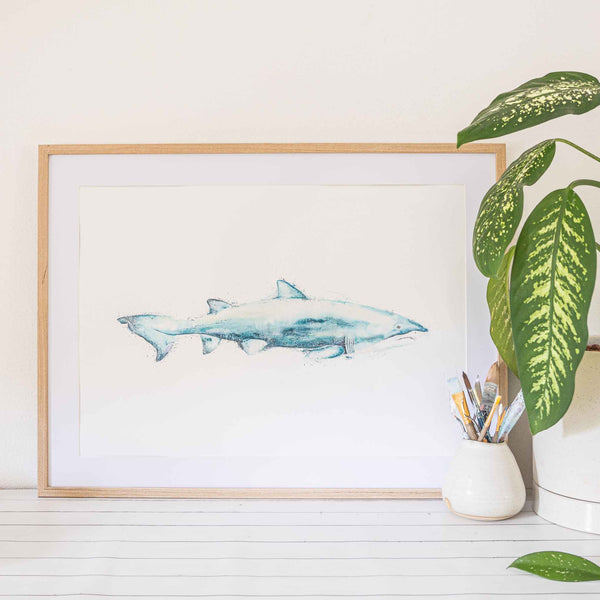 Grey Nurse Shark Framed Wall art