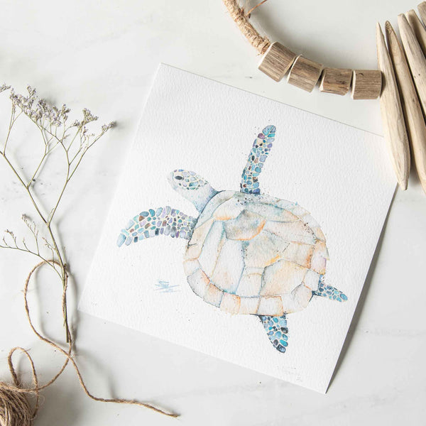 Follow me hawksbill turtle print