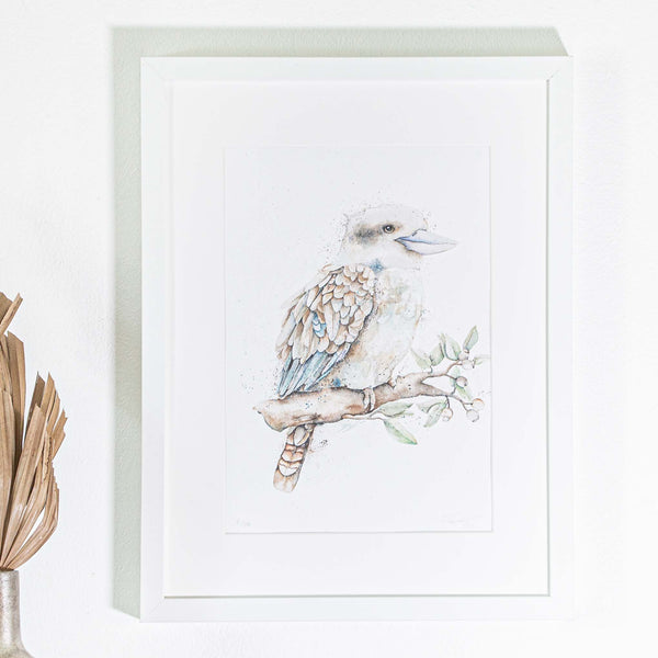 Kookaburra watercolour print in A4 by SEA