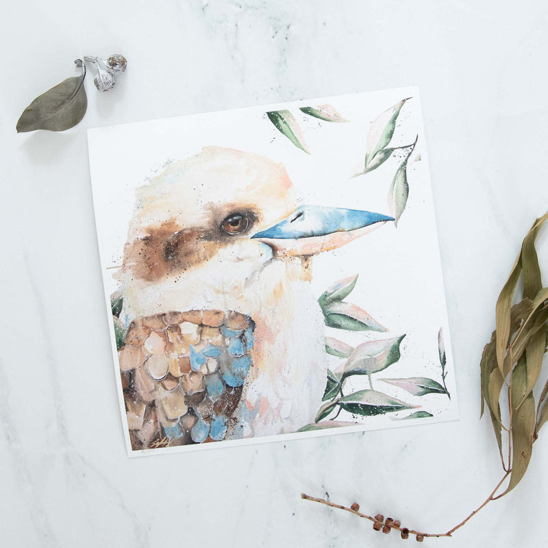 Blue Winged Kookaburra Print