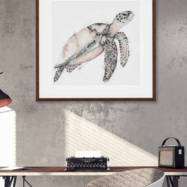 Turtle Wall art hanging in Office
