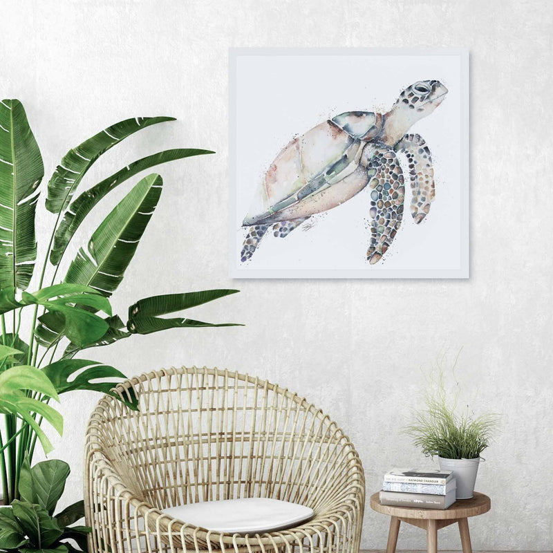 Lady Hawksbill turtle wall art