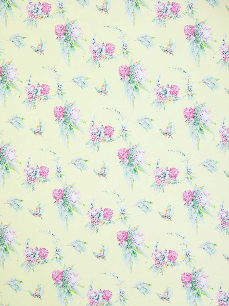 Native floral wrapping paper sheet by Stephanie Elizabeth Artwork