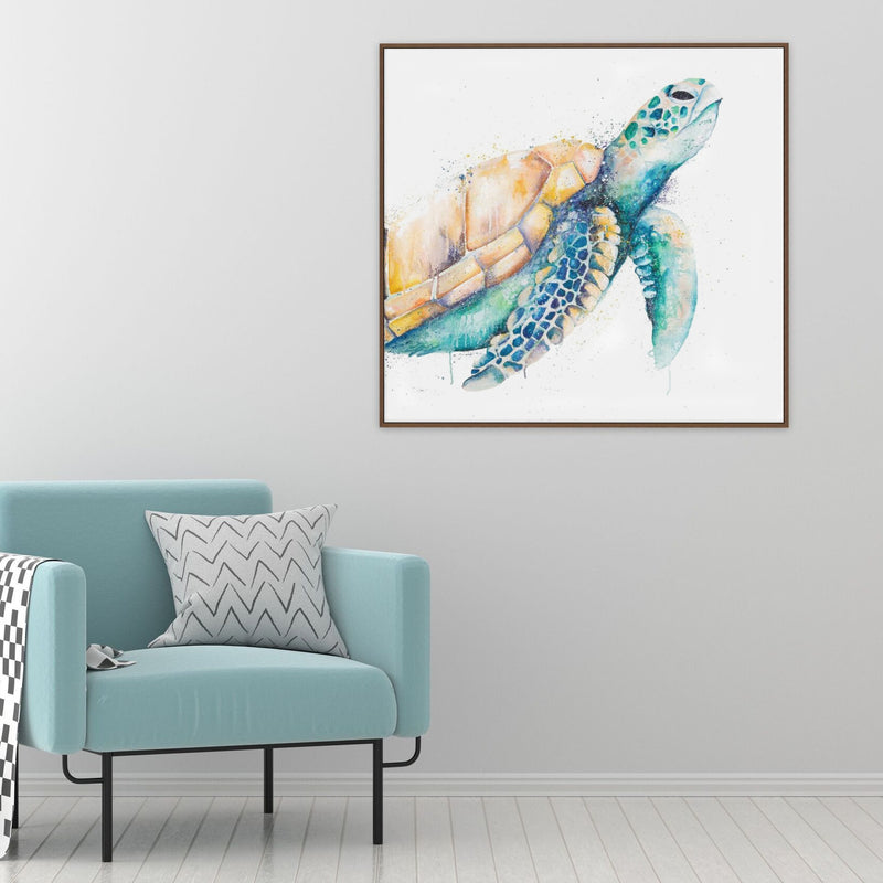 Canvas Print made in Australia of Turtle