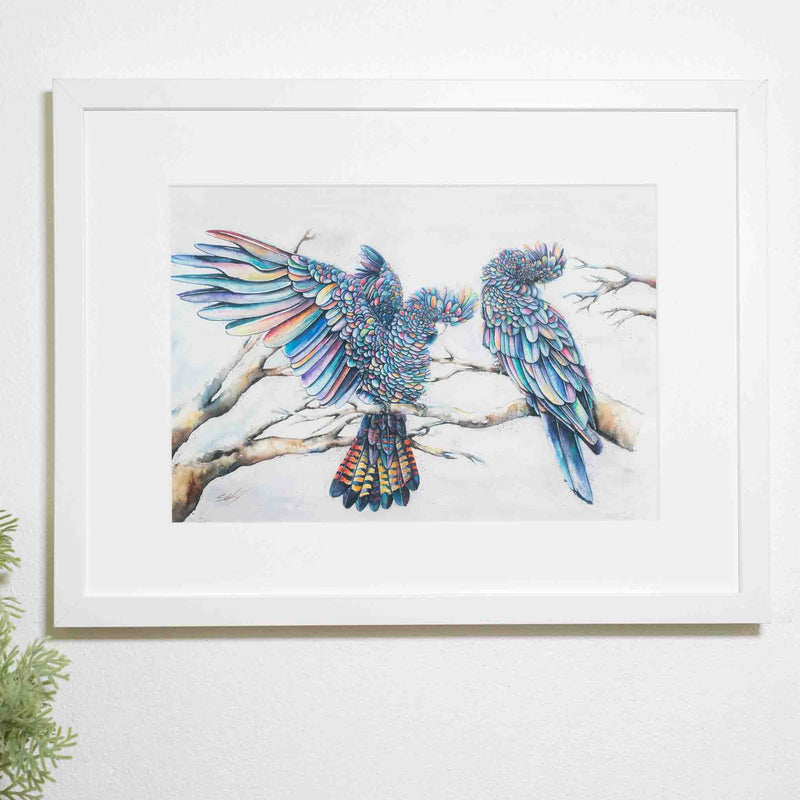 Black Cockatoos print by Stephanie Elizabeth Artwork