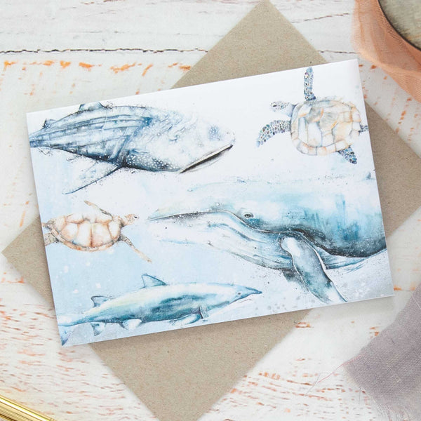 Sea Creatures Greeting card