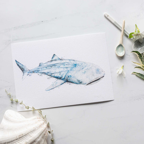 Spotted Whale Shark Art Print