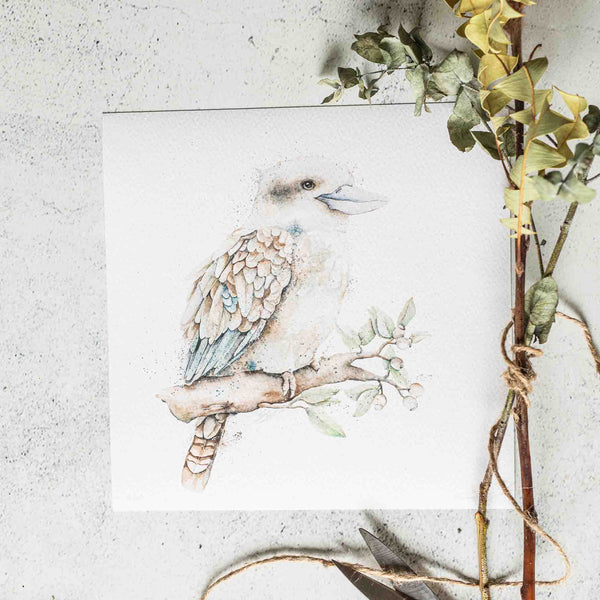 Kookaburra Watercolour animal artwork