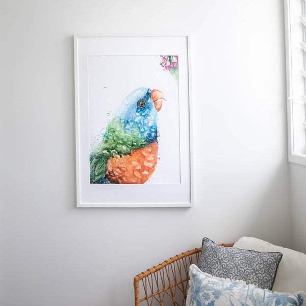 Rainbow Lorikeet Acrylic Artwork Fine Art Print