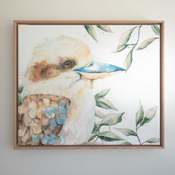 Kookaburra watercolour canvas original artwork