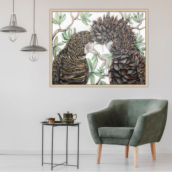 Black Cockatoo watercolour canvas print by Stephanie Elizabeth Artwork