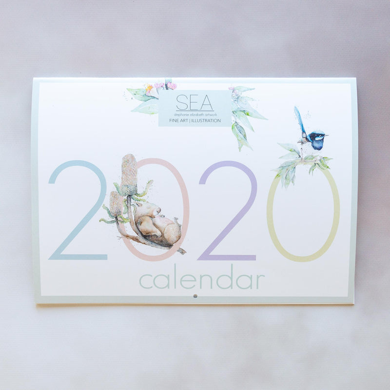 2020 Stephanie Elizabeth Artwork calendar