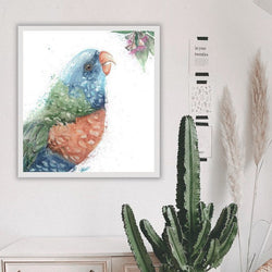 Rainbow Lorikeet Acrylic Artwork by Stephanie Elizabeth Artwork