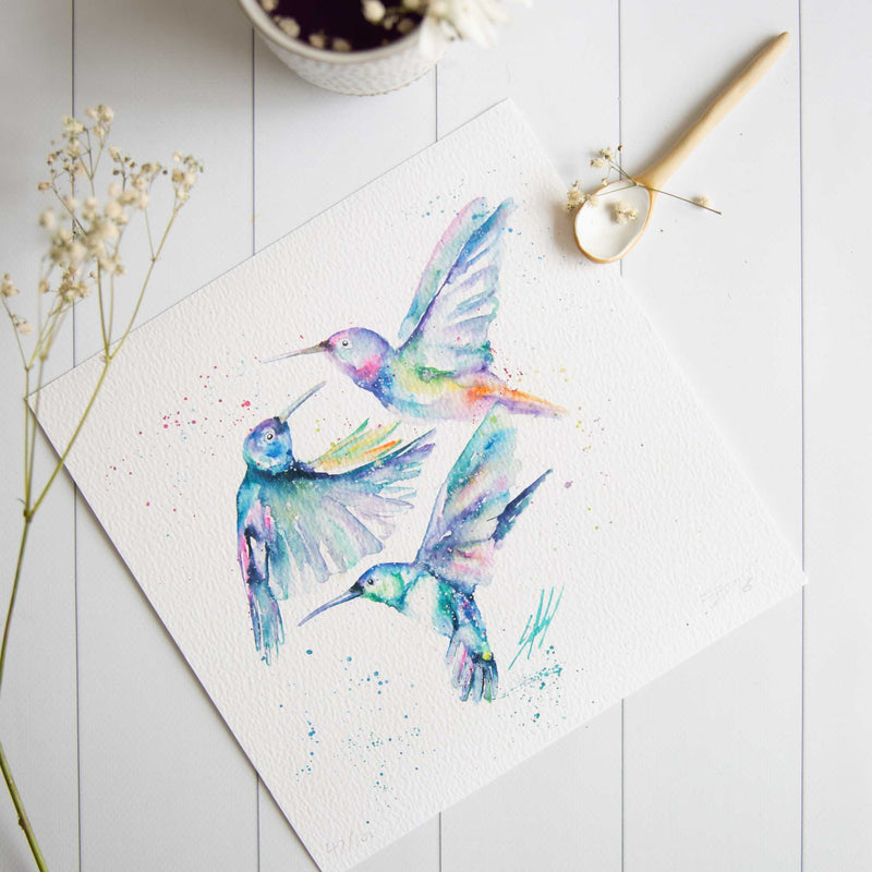 Humming Along watercolour artwork print
