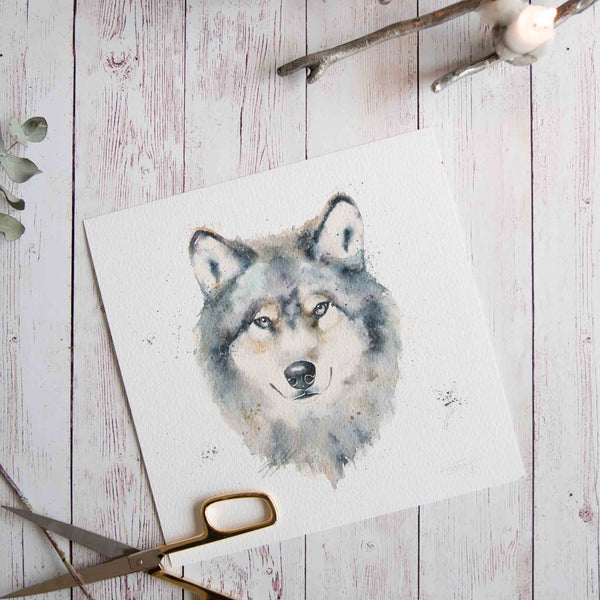Watercolour animals artwork through your eyes
