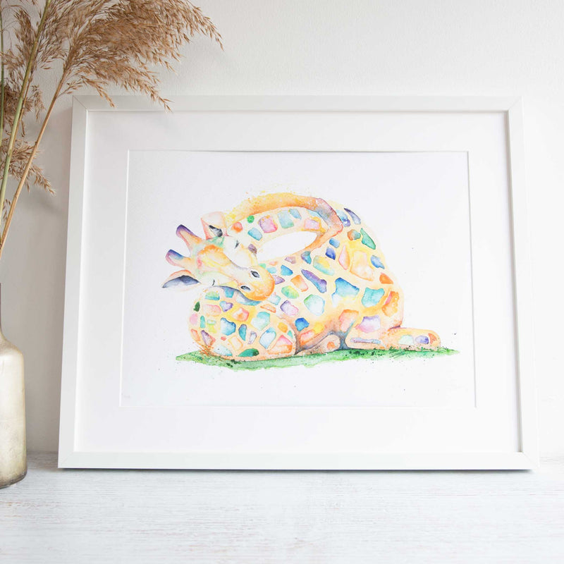 Watercolour animals artwork nursery wall art for baby room or home.