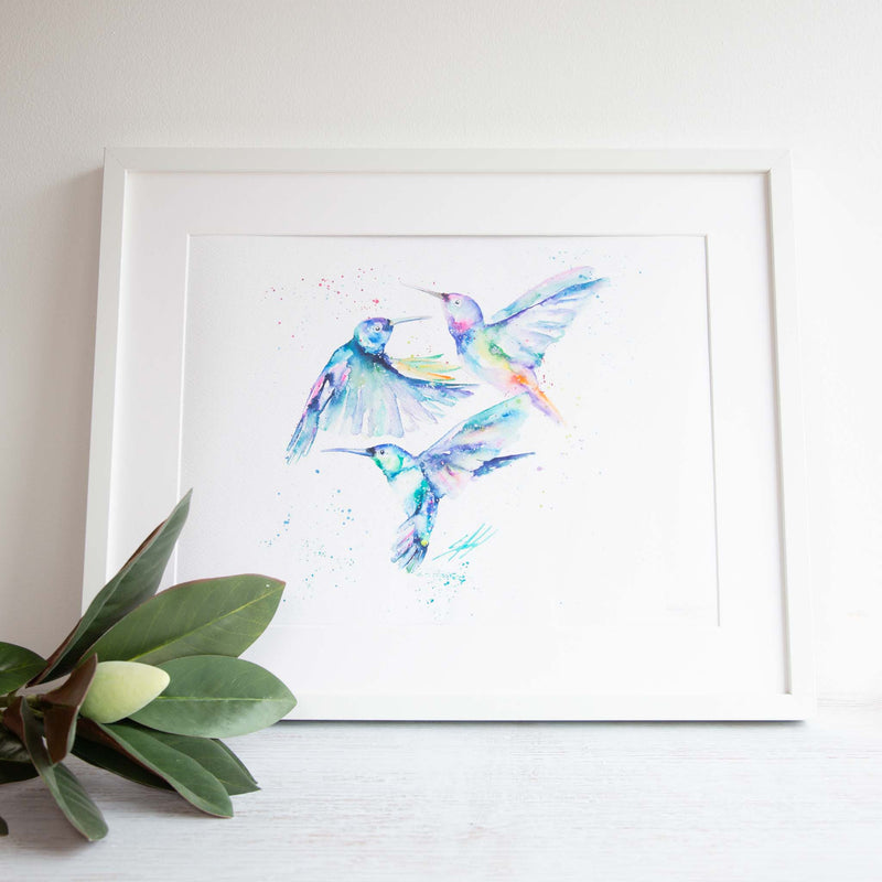 Humming Along framed print
