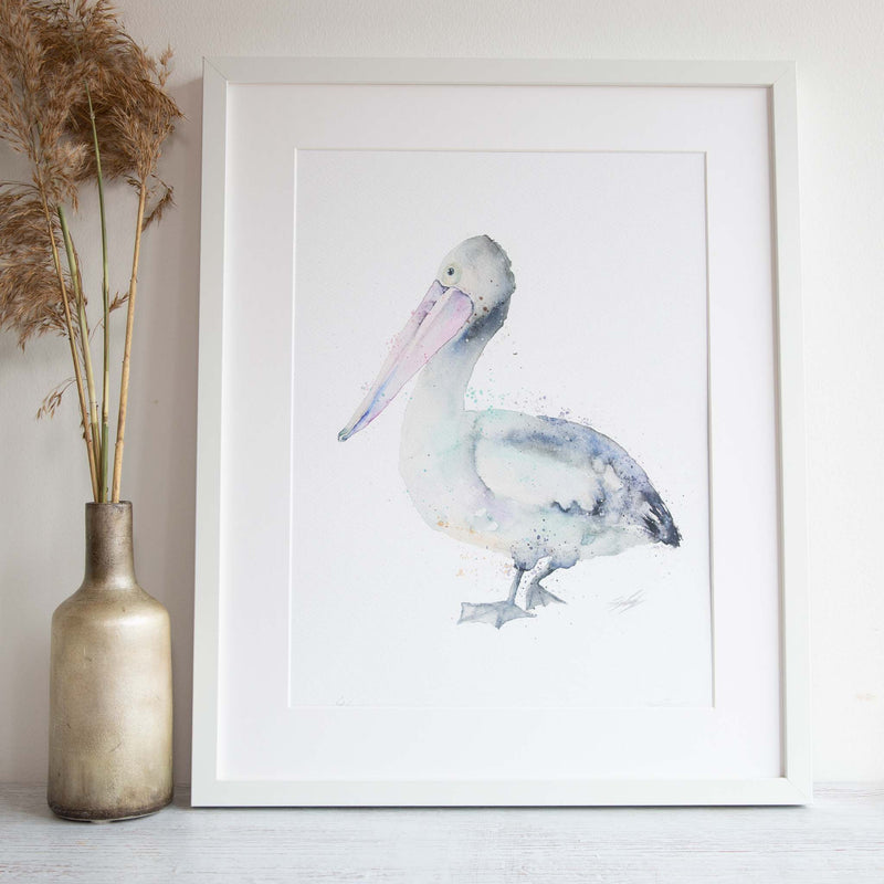Watercolour animals artwork pelican