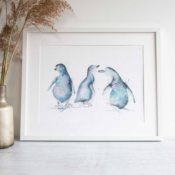 Penguin Party framed print by Stephanie Elizabeth Artwork
