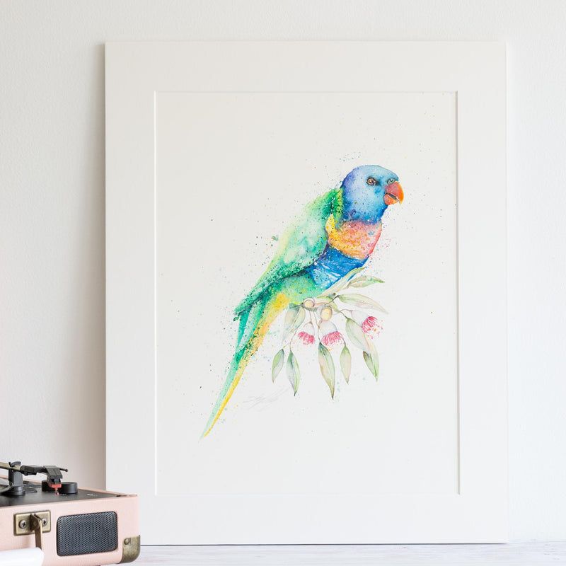 'Lorikeet with Eucalypt' - Original Artwork