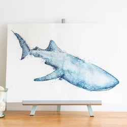 watercolour animals artwork Spotted Whale Shark