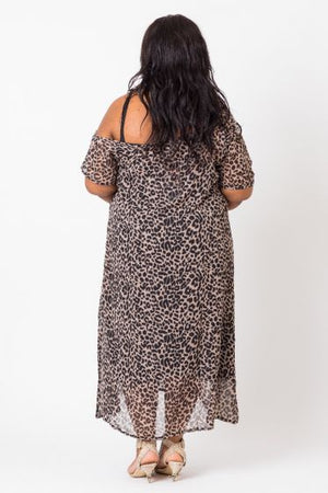 TWO-PIECE DRESS IN ANIMAL PRINT