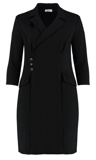 BLAZER TUXEDO DRESS (BLACK)