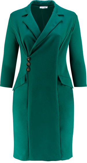 BLAZER TUXEDO DRESS (GREEN)