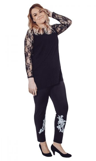 Lace Detail Leggings