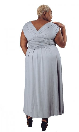 Grey Sleeveless Bridesmaid Dress