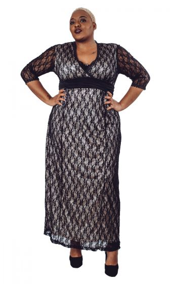 Formal Lace Maxi Dress